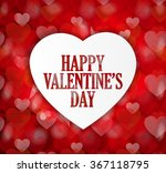 happy valentines day poster on... | Shutterstock .eps vector #367118795