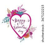 vector happy valentines day ... | Shutterstock .eps vector #367122215