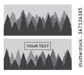 pine forest horizontal banner... | Shutterstock .eps vector #367126385