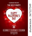 valentines day party flyer... | Shutterstock .eps vector #367127549