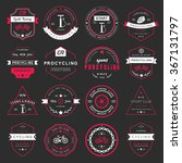 set of badges and logos cycling.... | Shutterstock .eps vector #367131797