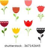 flower vectors  tulip vectors   Shutterstock .eps vector #367142645