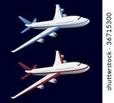 airplane | Shutterstock .eps vector #36715300