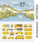 set stock vector illustration... | Shutterstock .eps vector #367153661