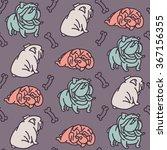 seamless english bulldog vector ... | Shutterstock .eps vector #367156355