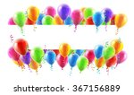 a balloons banner sign with... | Shutterstock . vector #367156889