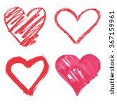 vector heart set | Shutterstock .eps vector #367159961