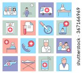 medical and health care icons ... | Shutterstock .eps vector #367166969