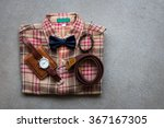 men's casual outfits with... | Shutterstock . vector #367167305