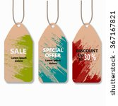 discount labels  sale tags. ... | Shutterstock .eps vector #367167821