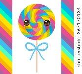 Kawaii Candy Lollipops With Bo...