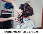 closeup hairdresser coiffeur... | Shutterstock . vector #367171925