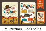 cute colorful kids meal menu... | Shutterstock .eps vector #367172345