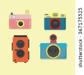 collection of toy cameras... | Shutterstock .eps vector #367175525