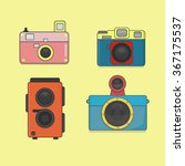 collection of toy cameras...   Shutterstock .eps vector #367175537