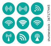 wireless technology. flat... | Shutterstock .eps vector #367177445
