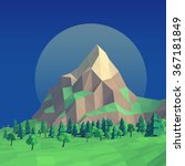 low poly night summer landscape ... | Shutterstock . vector #367181849