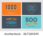 thank you followers  badges ... | Shutterstock .eps vector #367184345