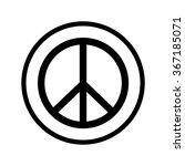 peace sign | Shutterstock .eps vector #367185071