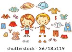 summer clothes set for a boy... | Shutterstock .eps vector #367185119