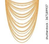 many chains golden metallic... | Shutterstock .eps vector #367189937