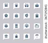gift box icons. present icons.... | Shutterstock .eps vector #367192841