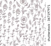 floral seamless pattern  spring ... | Shutterstock .eps vector #367197971