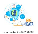big data business concept  info ... | Shutterstock .eps vector #367198235