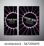 abstract purple circle light... | Shutterstock .eps vector #367200695