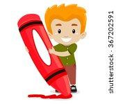 vector illustration of a boy... | Shutterstock .eps vector #367202591