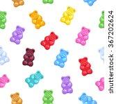 Seamless Colorful Gummy Bears...