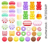 Set Of Different Sweets On...