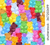seamless colorful gummy bears... | Shutterstock .eps vector #367202699