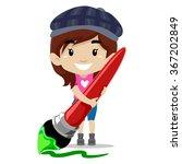 vector illustration of girl... | Shutterstock .eps vector #367202849