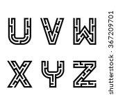 vector real maze alphabet font... | Shutterstock .eps vector #367209701