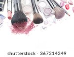 border of  make up brushes ... | Shutterstock . vector #367214249