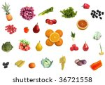 different fruit berries... | Shutterstock . vector #36721558