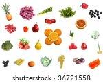 different fruit berries...   Shutterstock . vector #36721558