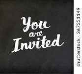 invitation vector hand drawn... | Shutterstock .eps vector #367221149