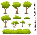 forest trees  hedges and bush... | Shutterstock .eps vector #367223957