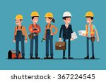 civil engineer  architect and... | Shutterstock .eps vector #367224545