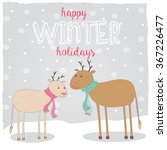 two christmas deer in love | Shutterstock .eps vector #367226477
