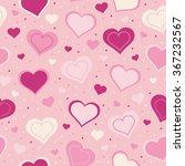 seamless hearts pattern | Shutterstock .eps vector #367232567