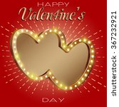 happy valentines day party... | Shutterstock .eps vector #367232921