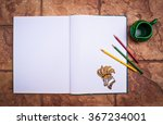blank opened brochure or book... | Shutterstock . vector #367234001