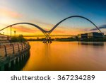 Blurred Infinity Bridge At...