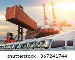 container cargo freight ship... | Shutterstock . vector #367241744