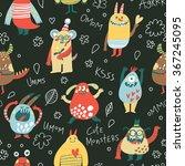 funny monsters. lovely seamless ...   Shutterstock .eps vector #367245095