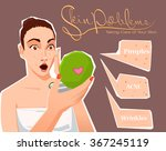 skin problems. taking care of... | Shutterstock .eps vector #367245119