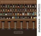 bar restaurant with counter in... | Shutterstock .eps vector #367245221